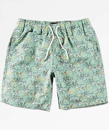 RIPNDIP Nermal Leaf Elastic Waist Board Shorts
