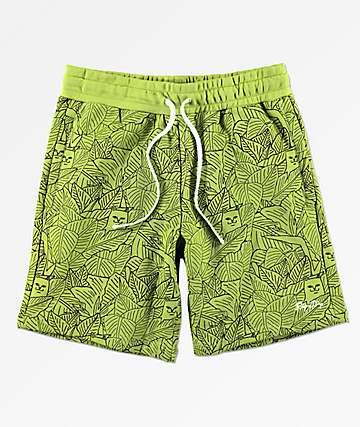 RIPNDIP Nermal Leaf shorts de punto oliva