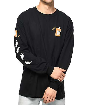 RIPNDIP Nermal Pills Black Long Sleeve T-Shirt