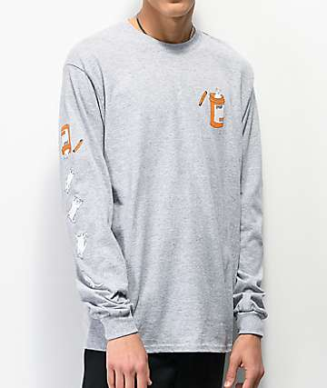 RIPNDIP Nermal Pills Grey Long Sleeve T-Shirt