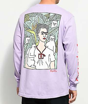 RIPNDIP Nermal Portrait Powder Purple Long Sleeve T-Shirt