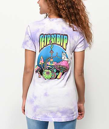RIPNDIP Nermal Psychedelic Lavender Tie Dye Pocket T-Shirt