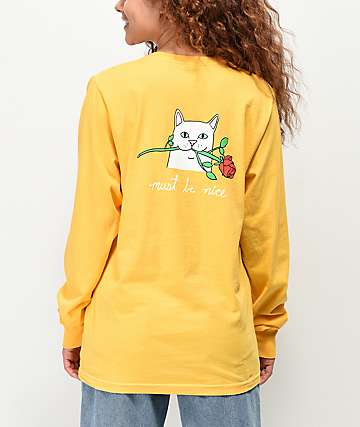 RIPNDIP Nermal Romantic Rose Gold Long Sleeve T-Shirt
