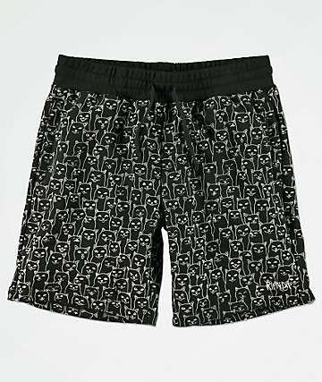 RIPNDIP Nermal Tonal Black Sweat Shorts