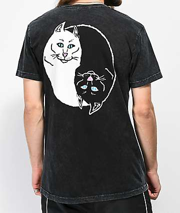 RIPNDIP Nermal Yang Black Wash T-Shirt