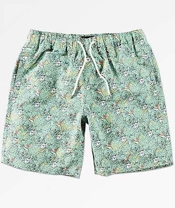 RIPNDIP Nermal shorts de baño de hojas