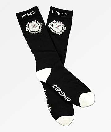 RIPNDIP Nermamaniac Black Crew Socks