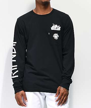 RIPNDIP Nermamaniac Black Long Sleeve T-Shirt