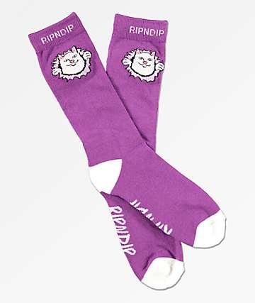 RIPNDIP Nermamaniac calcetines morados