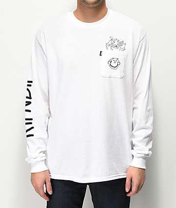 RIPNDIP Nermaniac camiseta blanca de manga larga
