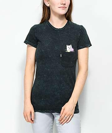 RIPNDIP Nermcasso camiseta con lavado mineral de color aqua