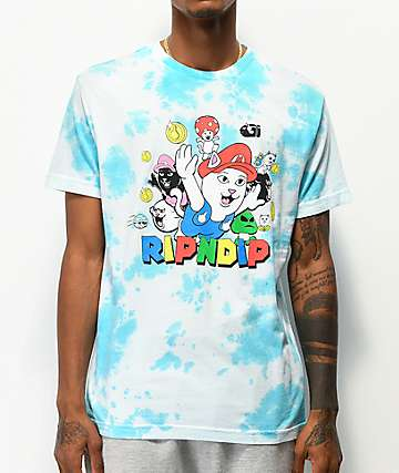 RIPNDIP Nermio Party Blue Tie Dye T-Shirt