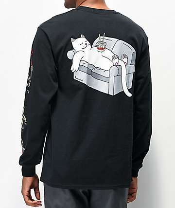 RIPNDIP Noodles Black Long Sleeve T-Shirt