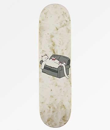 """RIPNDIP Noodles White 8.0"""" Skateboard Deck"""