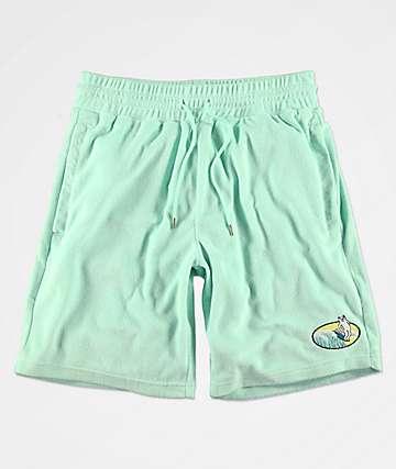 RIPNDIP Paradise shorts de punto en verde pastel