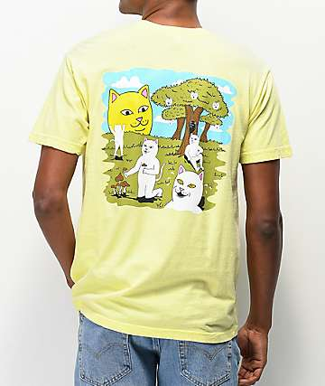 RIPNDIP Park Day Light Yellow T-Shirt