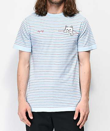 RIPNDIP Peaking Nermal Blue Striped T-Shirt