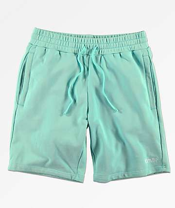 RIPNDIP Peek A Nermal shorts de punto en verde pastel