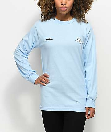 RIPNDIP Peeking Nermal Blue Long Sleeve T-Shirt