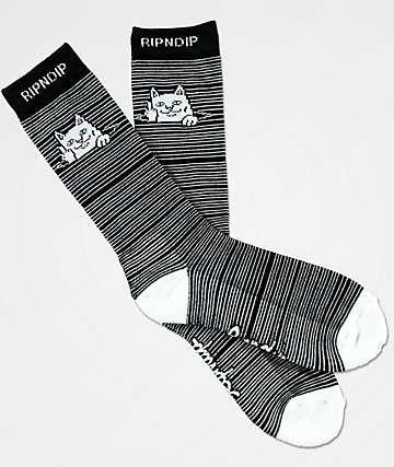 RIPNDIP Peeking Nermal calcetines en negro y blanco