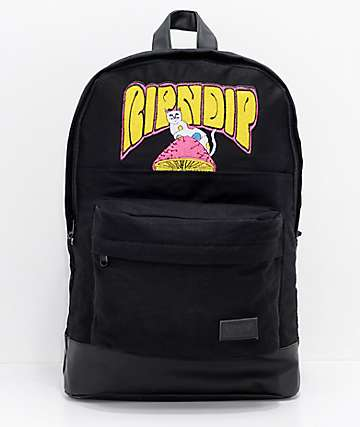RIPNDIP Psychedelic Black Backpack