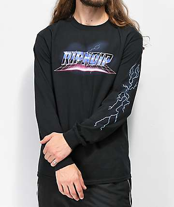 RIPNDIP Rave Black Long Sleeve T-Shirt