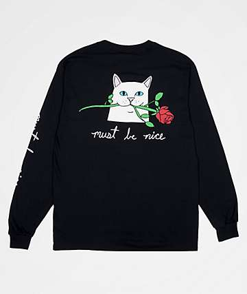 RIPNDIP Romantic Nerm Black Long Sleeve T-Shirt