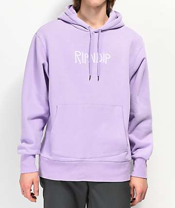 RIPNDIP Rubber Logo Purple Hoodie