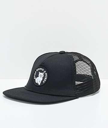 RIPNDIP SBAP Black Mesh Snapback Hat