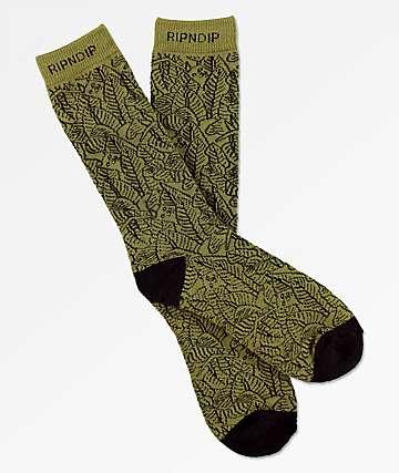 RIPNDIP Safari Nerm Olive Crew Socks