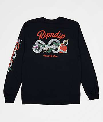 RIPNDIP Serpent Black Long Sleeve T-Shirt