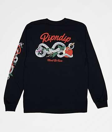 RIPNDIP Serpent Black Long Sleeve T-Shirt