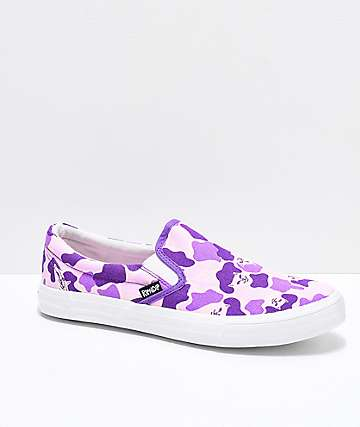 RIPNDIP Slip-On Purple Nermal Camo Shoes