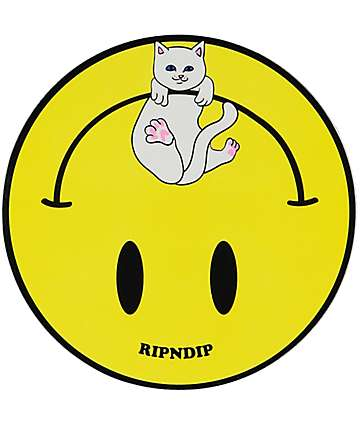 RIPNDIP Smiley Nermal Yellow Sticker