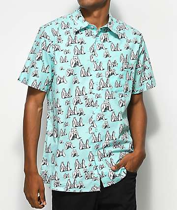 RIPNDIP Stoner Mint Short Sleeve Button Up Shirt