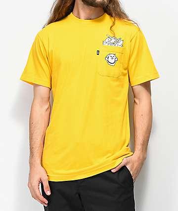 RIPNDIP Stuffed Nermal Pocket Gold T-Shirt