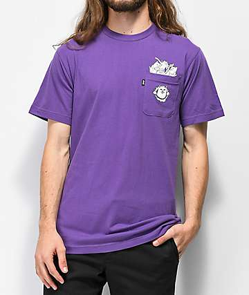 RIPNDIP Stuffed Nermal Pocket Purple T-Shirt