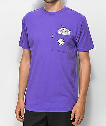 RIPNDIP Stuffed Purple Pocket T-Shirt