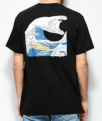 ee19f6a11 RIPNDIP The Great Wave Of Nerm Black T-Shirt