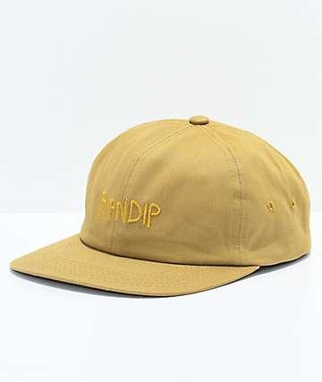 RIPNDIP Tonal Logo Mustard Six Panel Hat