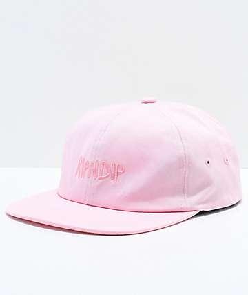 RIPNDIP Tonal Logo Pink Six Panel Hat