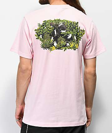 RIPNDIP Upside Down Jungle Pocket Pink T-Shirt