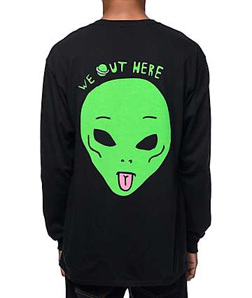 RIPNDIP We Out Here Long Sleeve Black T-Shirt