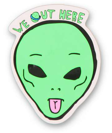RIPNDIP We Out Here Sticker