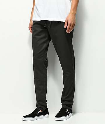 RVCA AT Dayshift pantalones negros con cintura elástica