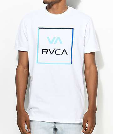 RVCA All The Colorway camiseta en blanco y azul