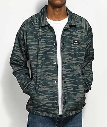 RVCA All The Way Camo Coaches Jacket