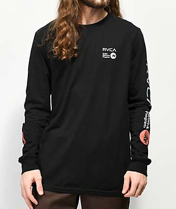 RVCA Artist Network Program Black Long Sleeve T-Shirt