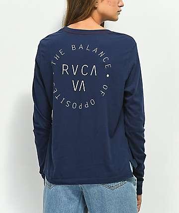 RVCA Balance Circle Navy Long Sleeve T-Shirt