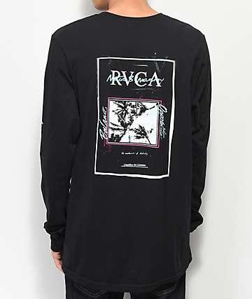 RVCA Balance Flyer Black Long Sleeve T-Shirt